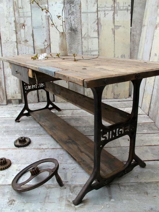 Cosir i fer ampolles reciclar m quinas de coser - Mesas de escritorio antiguas ...