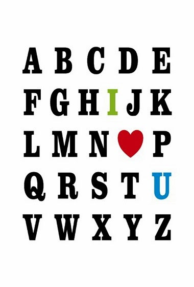 Valentine's Day print card typography