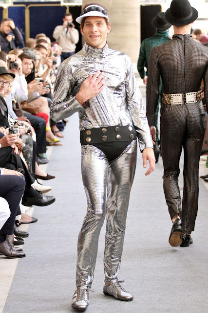 male model on the runway