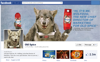 Old Spice WolfDog Facebook image