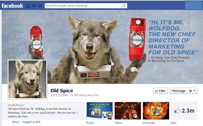 Old Spice WolfDog Facebook image