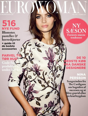 Magazine Cover : Moa Aberg Magazine Photoshoot Pics on Eurowoman Magazine Denmark February 2014 Issue