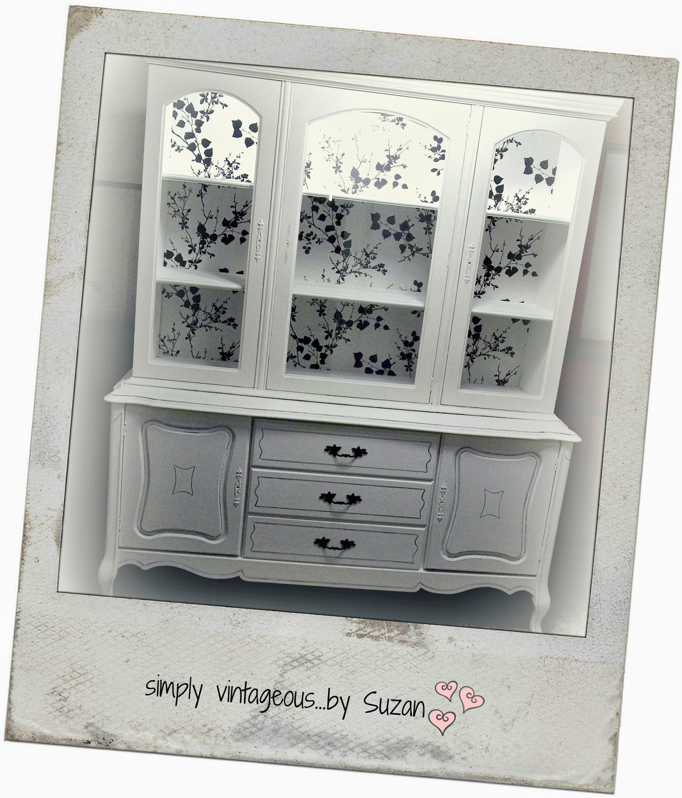 Hutch makeover, Chalk Paint pure white