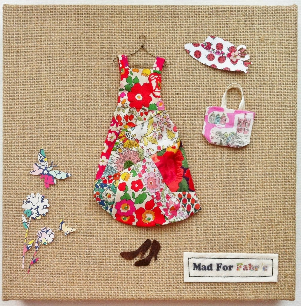 http://www.madforfabric.com/2014/08/07/mixed-media-fabric-scrap-art-tutorial/