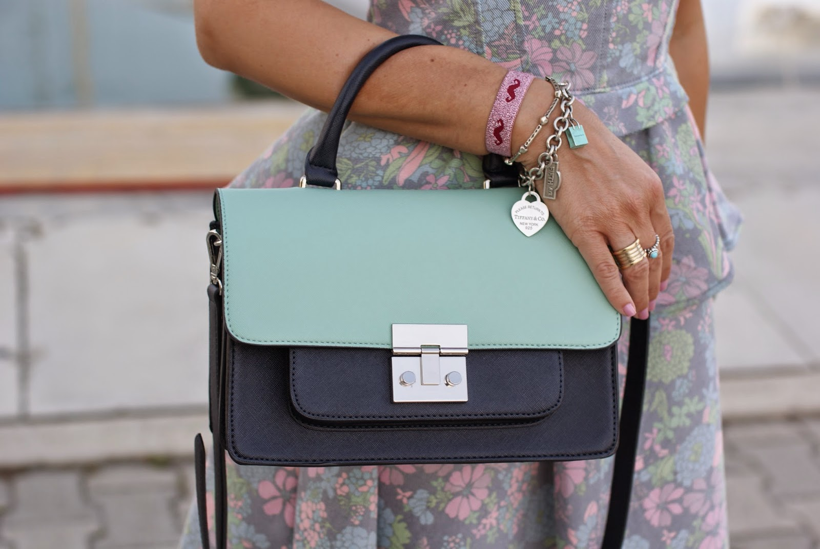 zara mint bag, ventiquattro braccialetto, tiffany bracelet, bvlgari bzero ring, Fashion and Cookies, fashion blogger