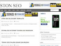 Ston SEO, Responsive Blogger Template