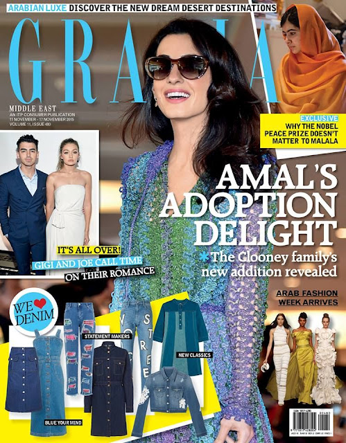 Lawyer, Activist, Author @ Amal Alamuddin - Grazia UAE, November 2015