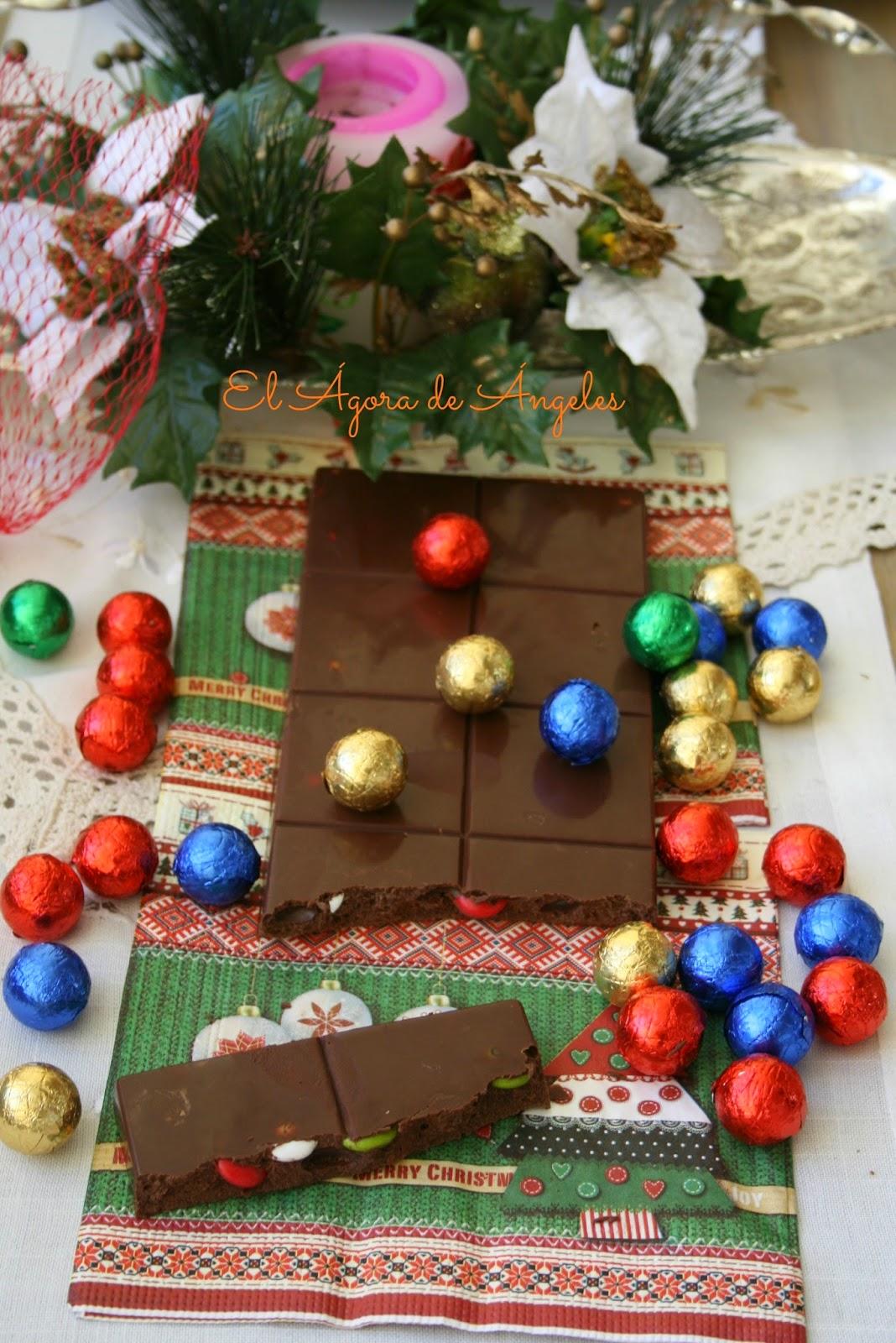 turrón chocolate, Lacasitos, Navidad