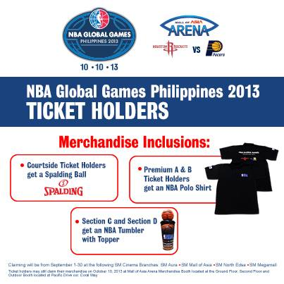 NBA Global Games Philippines 2013 free merchandise