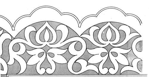 Moldes de bordados Richelieu para as bordas das luminárias - Holiday ...