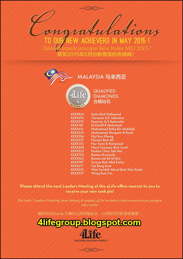 foto Pencapai Pangkat Baru Mei 2015 4Life Malaysia (2)