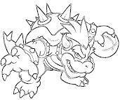 #9 Bowser Coloring Page