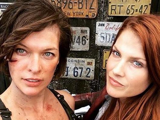 Nueva foto desde el set de 'Resident Evil: The final chapter' con Milla Jovovich y Ali Larter