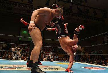 AJ Styles NJPW IWGP Heavyweight Champion Minoru Suzuki G1 Climax Korakuen Hall