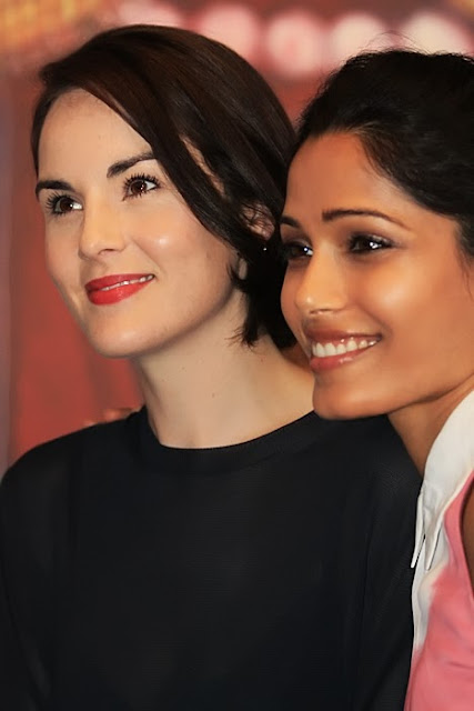 Michelle Dockery and Freida Pinto
