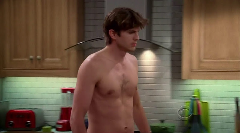 Ashton Kutcher Shirtless in Two and a Half Men s9e24