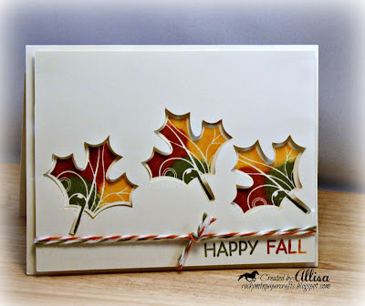 Rocky Mountain Paper Crafts Puddle Pad Leaf Card