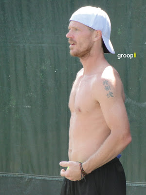 Alex Bogomolov Jr. Shirtless at Miami Open 2011