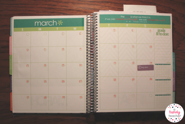 The Beginning Of Planner Starts With Your Monthly Calendar Views These Are Nice But I Dont Use Them Too Much Have Big Wedding Dates Labeled