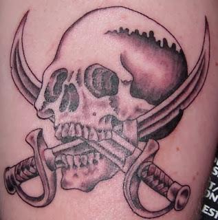 Sword Design Skull Tattoo