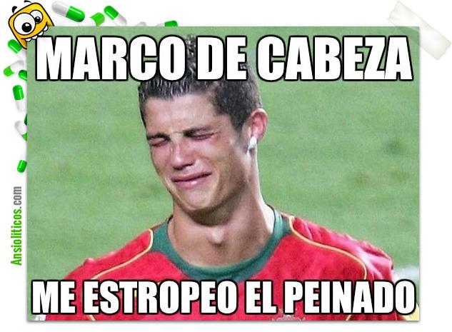 Chiste Eurocopa: Cristiano Ronaldo Gol de Cabeza
