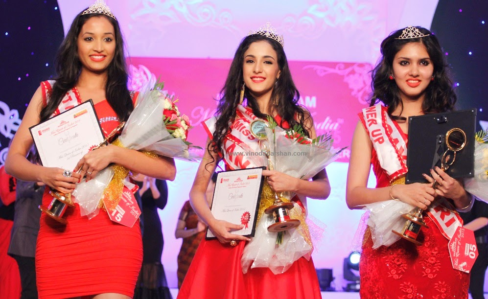 rinidhi R Shetty - First Runners up, Kanika Kapur -Miss Queen of India 2015 and Gayathri R Suresh Second Runners Up of Miss Queen of India 2015