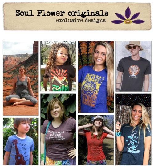 original hippie funky organic cotton tee designs