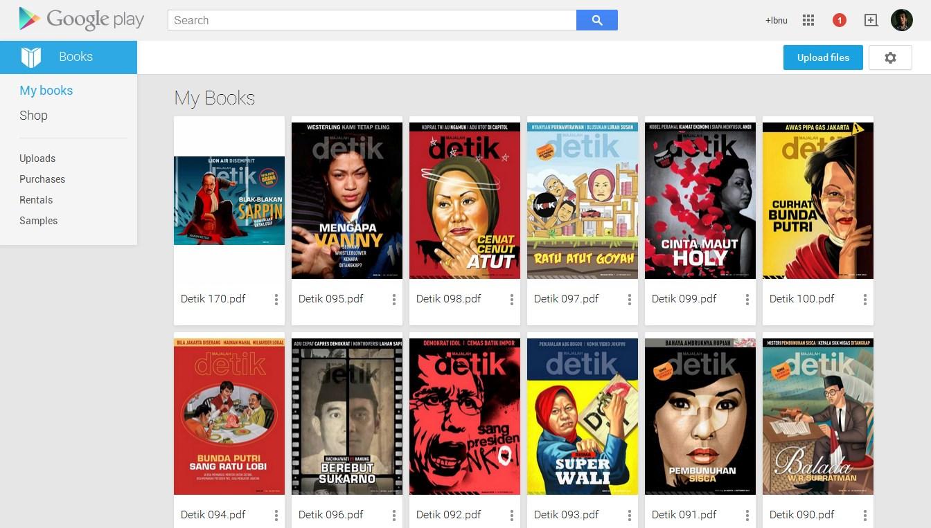 Cara Unggah Majalah di Google Play Books untuk Dibaca Online di ASUS Zenfone 6