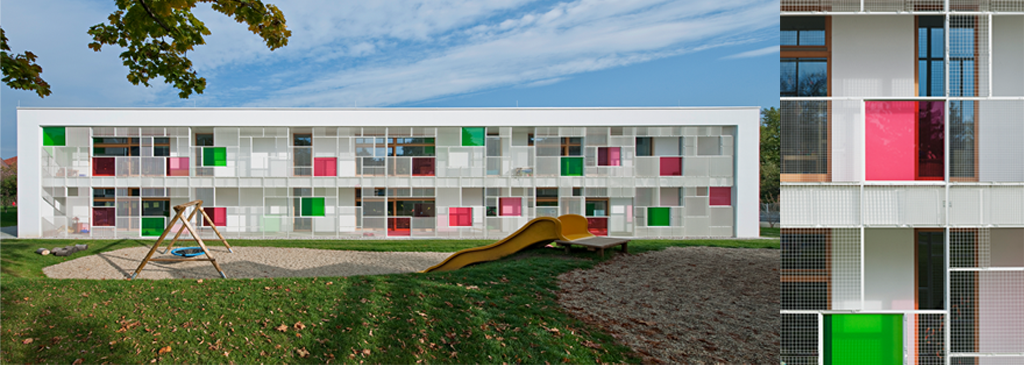 Centro educativo maria enzersdorf childcare centre maria for Edificios educativos arquitectura