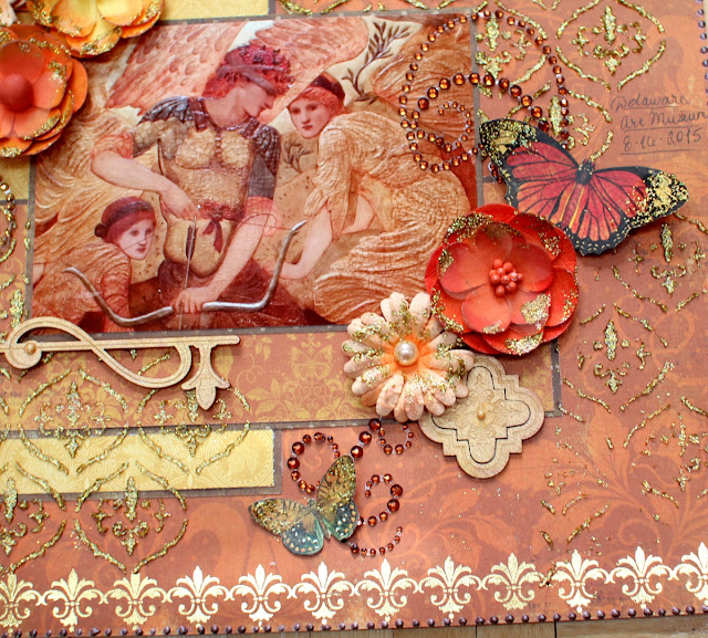The Golden Touch layout by Ilene Tell using BoBunny Enchanted harvest collection  (detail 1)
