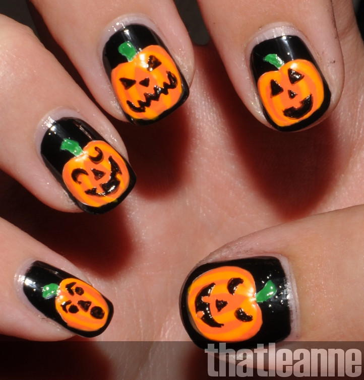 OPI Spookettes Halloween 2011 and Jack o\'lantern nail art! | Easy ...