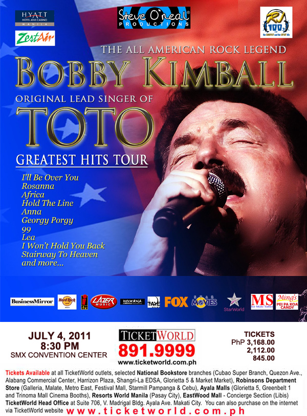 Bobby Kimball, Bobby Kimball LIVE in Manila, picture, image, photo, pic, wallpaper, poster, print, ticket