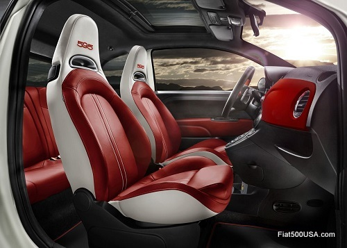 Abarth 595 '50th Anniversary' interior