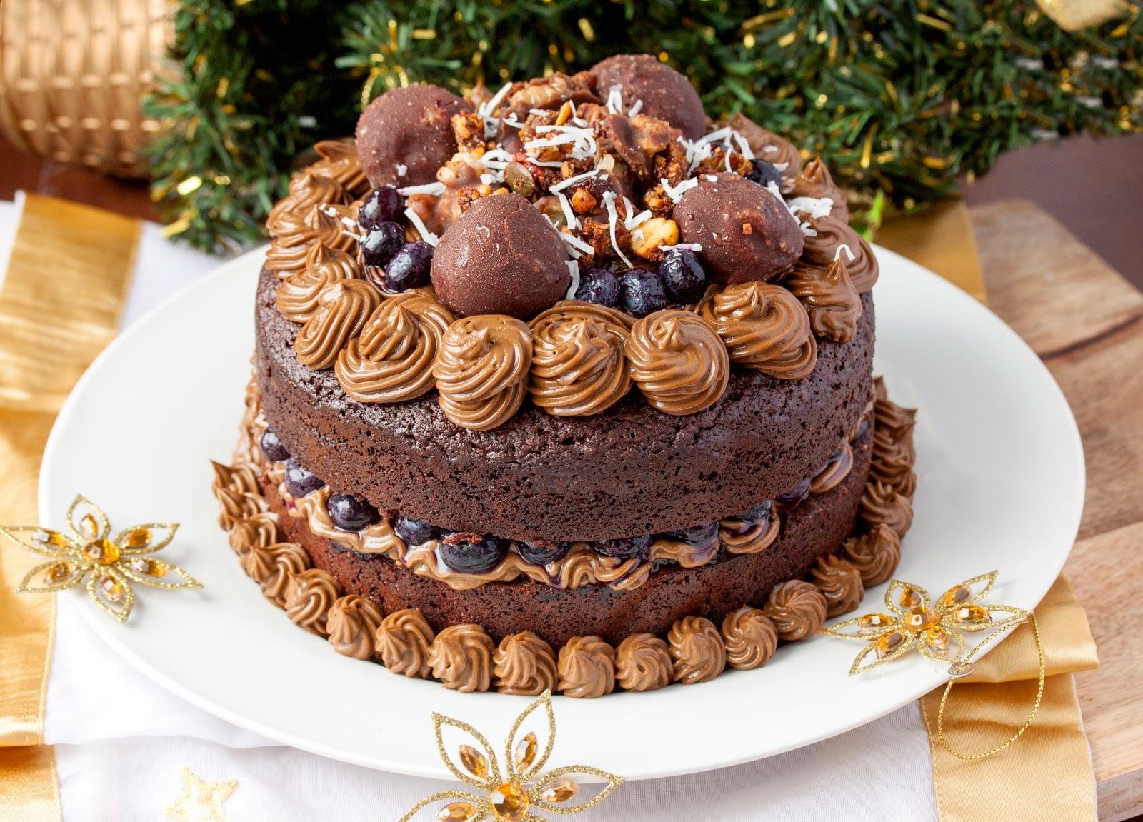Chocolate Brownie Layered Birthday Cake Another Epic Paleo Cake