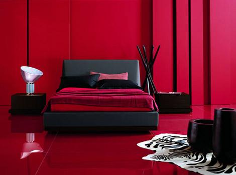 Idées ados Chambre Girl Rouge et Noir ~ Design Interieur France