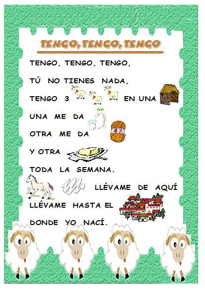 Canciones Infantiles Con Letra