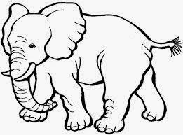 mewarnai gambar gajah untuk anak 5