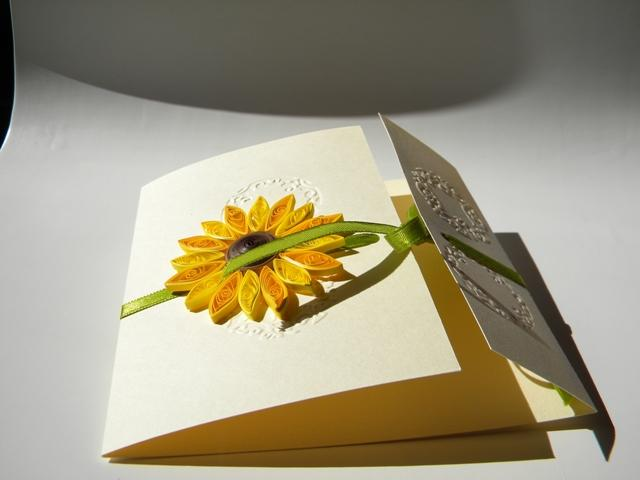 So now I can show you this special sunflower wedding invitation