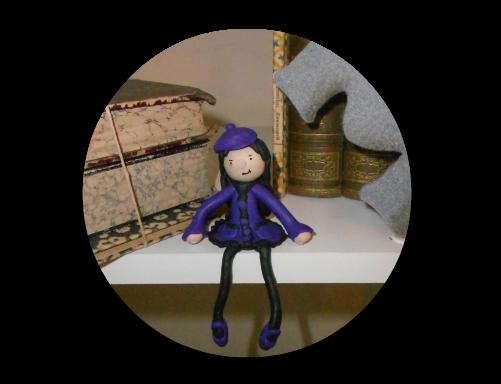 muñeca decorativa con Fimo