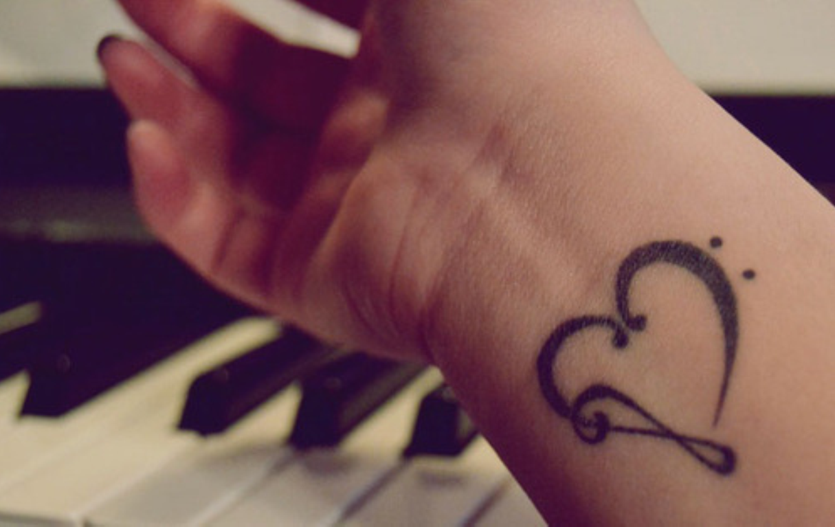 Simple Heart Tattoo On Wrist