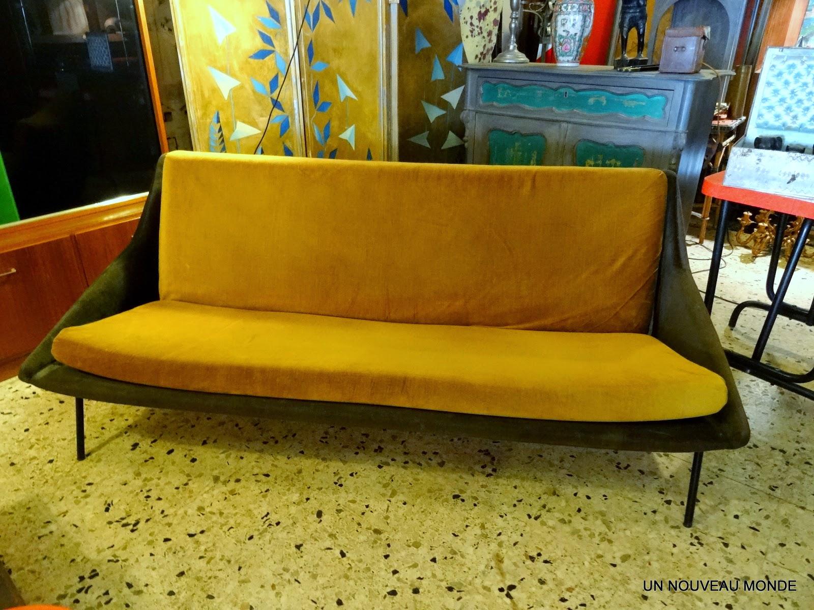 l 39 atelier de philippe canap banquette ann es 50. Black Bedroom Furniture Sets. Home Design Ideas
