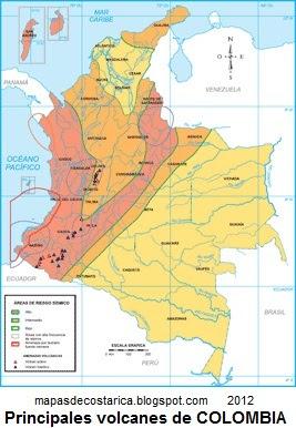 COLOMBIA America MAPAS DE