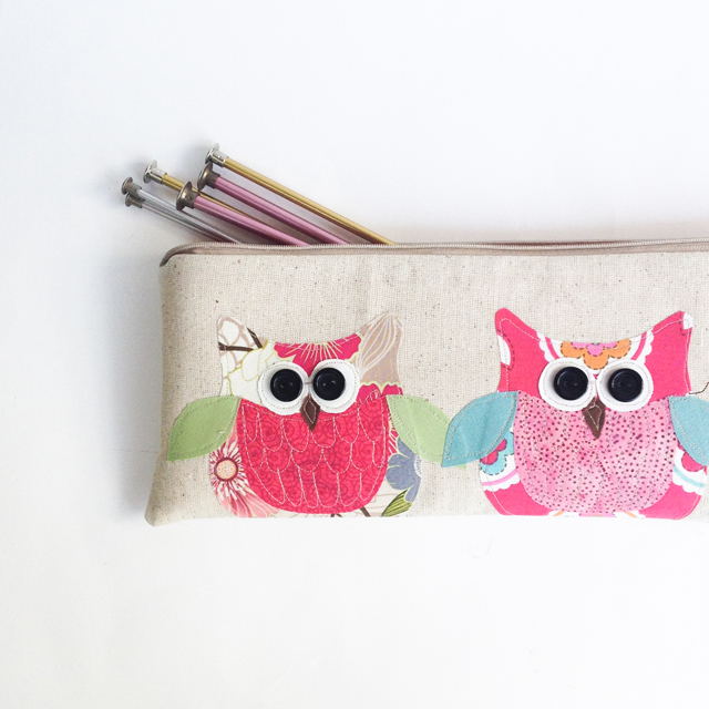 personalized-owl-knitting-bag