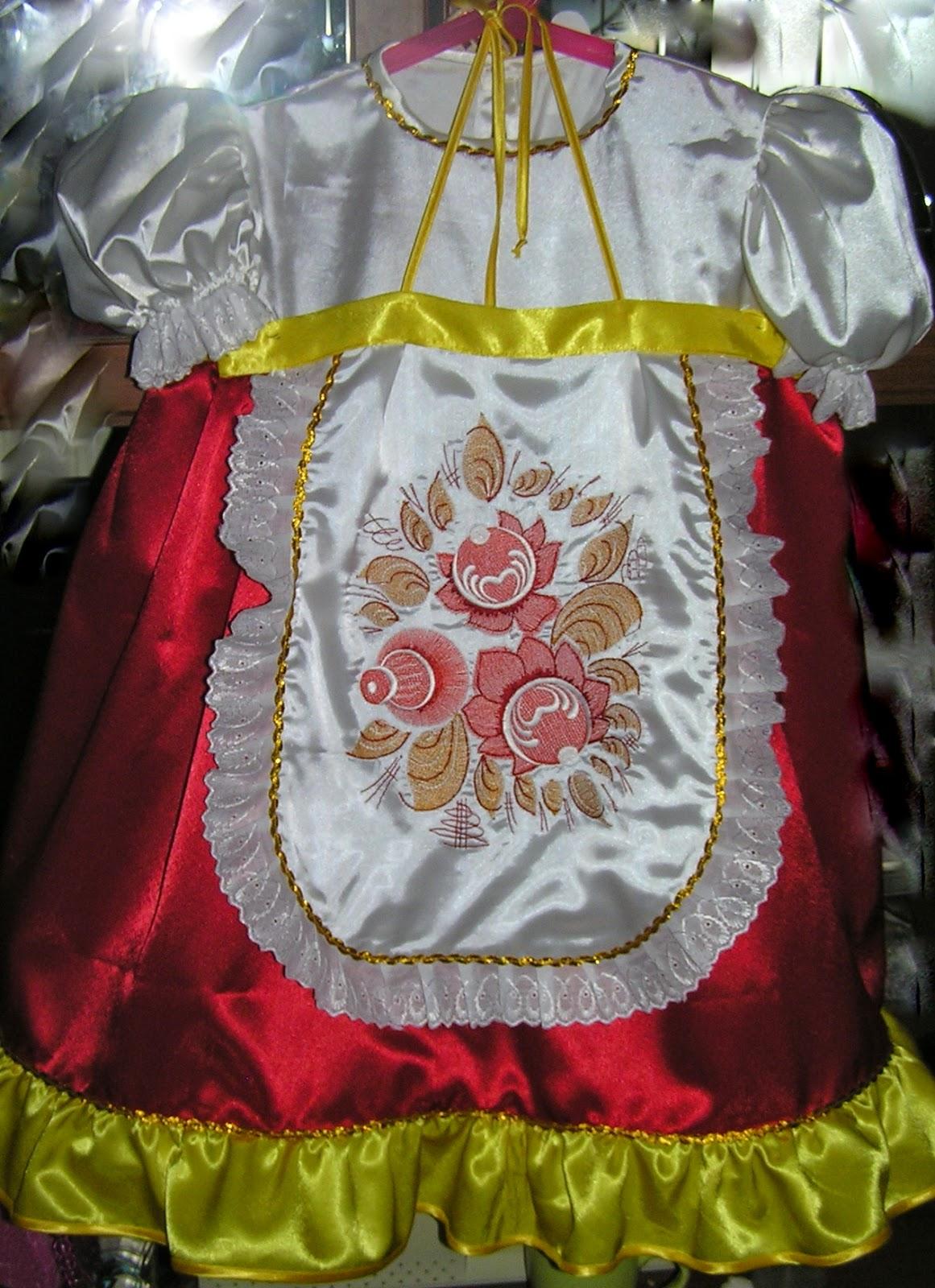 Платье матрешки для девочки 371