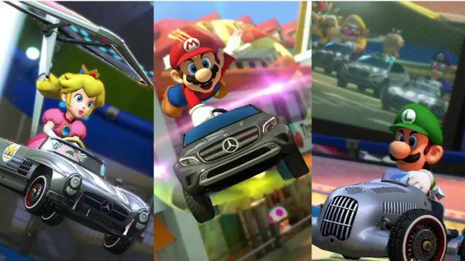 Mario Kart 8 DLC añadirá tres Carros Mercedes-Benz Para El Juego