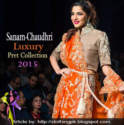 Sanam Chaudhri Summer Luxury Pret Dress Collection 2015