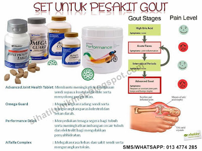 suplemen sakit gout- omega, alfalfa, performance drink, joint health tablet