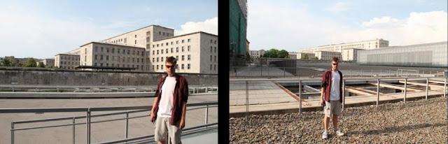 Die Niederkirchnerstraße ist eine Straße im Berliner Ortsteil Mitte an der Südgrenze des gleichnamigen Bezirks zum Ortsteil Kreuzberg (Bezirk Friedrichshain-Kreuzberg) im Bereich des ehemaligen Verlaufs der Mauer. Sie ist benannt nach Käthe Niederkirchner, einer Kommunistin, Widerstandskämpferin gegen den Nationalsozialismus. Vor 1951 trug diese Straße den Namen Prinz-Albrecht-Straße. Unter diesem Namen wurde sie von 1933 bis 1945 ein Synonym für den Terrorapparat der NS-Diktatur, weil die Gestapo-Zentrale, das Reichssicherheitshauptamt und die SS dort ihren Sitz hatten.  Inhaltsverzeichnis      1 Geschichte     2 Grundstücke     3 Literatur     4 Weblinks  Geschichte  Die Straße wurde in den 1870er Jahren unter dem Arbeitstitel Verlängerte Zimmerstraße als Privatstraße angelegt. Überwiegend geschah dies auf dem nördlichen Rand des Parks zum Prinz-Albrecht-Palais. 1891 erhielt sie ihre offizielle Widmung nach dem vormaligen Eigentümer des Stadtpalais.  In der Art der Anlage als Verbindung von der Wilhelmstraße zur bisherigen Akzisemauer durch ein langgestrecktes Parkgrundstück ist sie mit der kurz zuvor in gleicher Weise angelegten Voßstraße vergleichbar, die ebenfalls so dicht am Leipziger Platz verläuft, dass sie die Rückseite der dortigen Repräsentationsgebäude bildet.  Nach 1933 wurde die Prinz-Albrecht-Straße zur Schaltzentrale des NS-Staates, die sich durch die unmittelbare Nachbarschaft zum Regierungsviertel in der Wilhelmstraße auszeichnete.  Während auf der nördlichen Straßenseite die meisten Gebäude im Zweiten Weltkrieg größtenteils unzerstört blieben, wurden sie auf der südlichen – zum Ortsteil Kreuzberg gehörenden – Seite stark in Mitleidenschaft gezogen.  Das gesamte Straßenland einschließlich der Gehwege gehört zum Bezirk Mitte. Deshalb verlief hier auch von 1961 bis 1990 die Berliner Mauer. Diese war – wie allgemein üblich – etwa anderthalb Meter auf die Ost-Berliner Seite zurückversetzt gebaut worden, sodass die DDR-Grenztruppen auf eigenem Territori