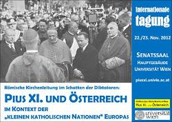 Pius XI. und Österreich - Tagung
