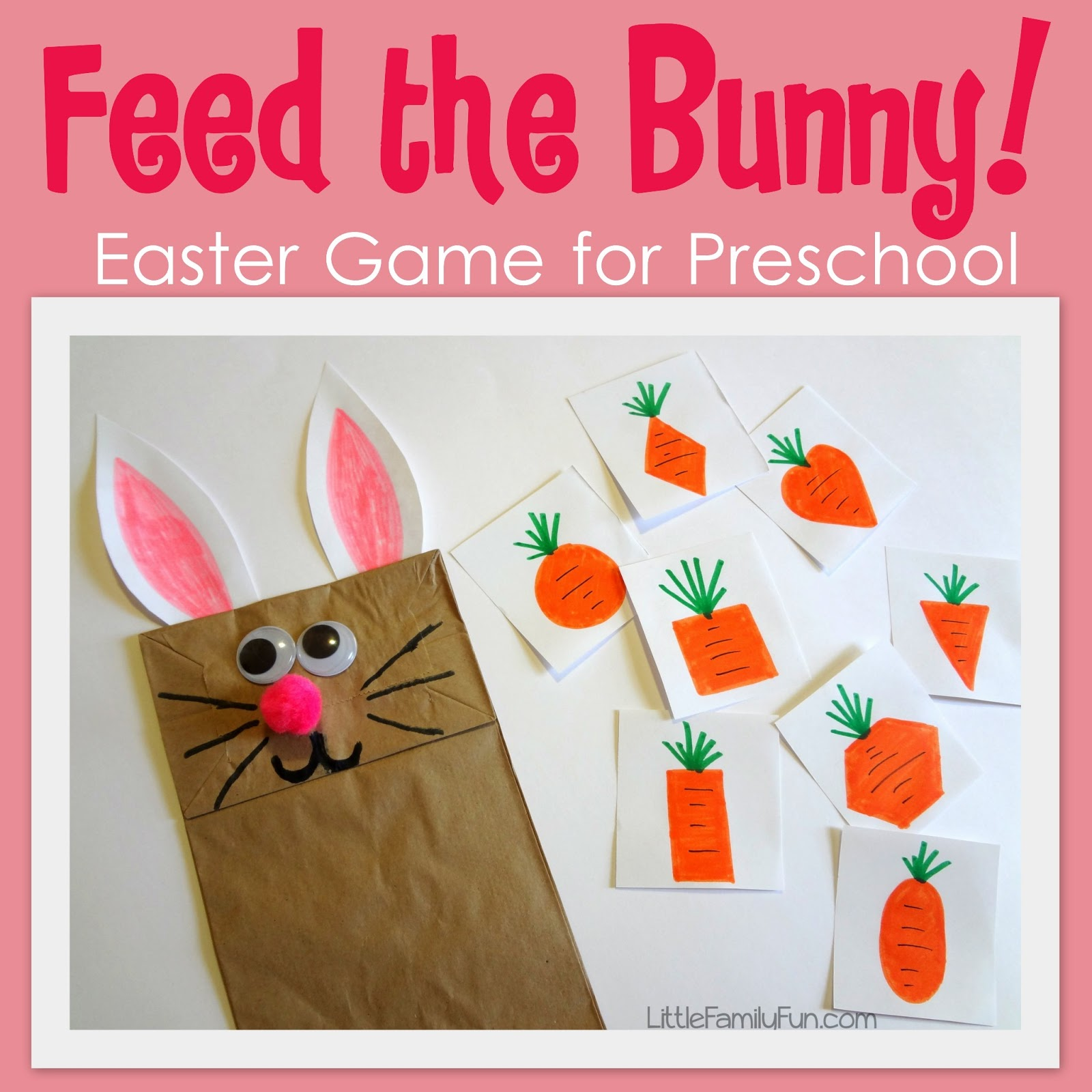 Activities Crafts Games: Little Family Fun: Feed The Bunny Game